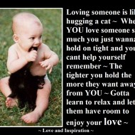 Loving someone is like hugging a cat
