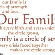 Quote Pictures Our Family Is A Circle Of Strength And Love
