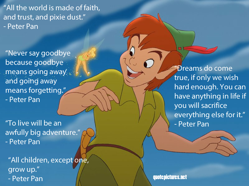 Quote Pictures Peter Pan Quotes
