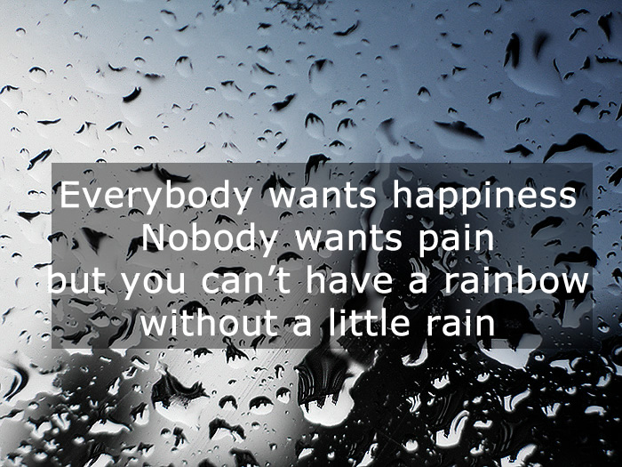 Quote Pictures Quotes On Rain Everybody Wants Happiness Nobody