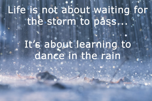 Quote Pictures Rainy Quote Life Is Not About Waiting For The Storm