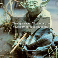 Strong is Vader. Mind what you have learned. Save you it can