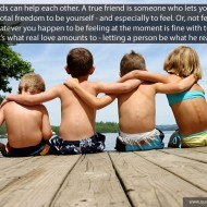 True friend quotes - Friends can help each other