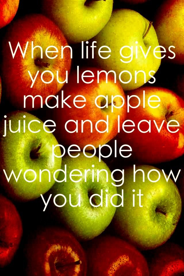 From Lemons To Apples