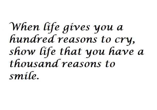 When life gives you reasons to cry