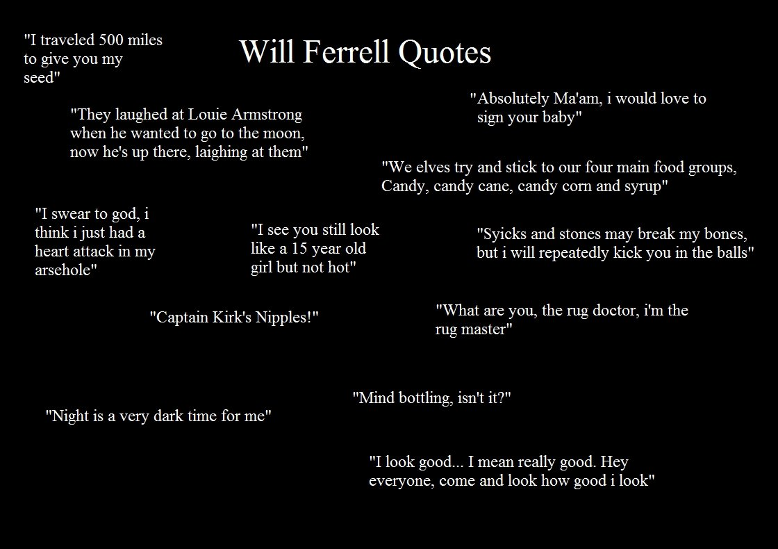 Funny Love Quotes Will Ferrell : Funny Quotes by Will Ferrell