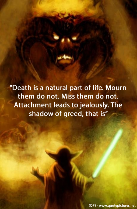 Quotes About Death And Life Extraordinary Quote Pictures Yoda  Death Is A Natural Part Of Life