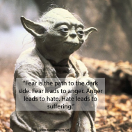 Yoda - Fear is the path to the dark side