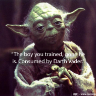 Yoda - The boy you trained gone he is