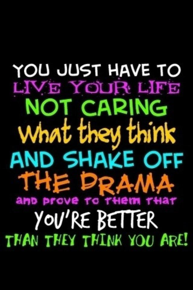 Live Your Life Crazy Quotes: Quotes About Not Caring. QuotesGram