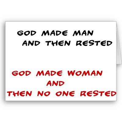 After God made women