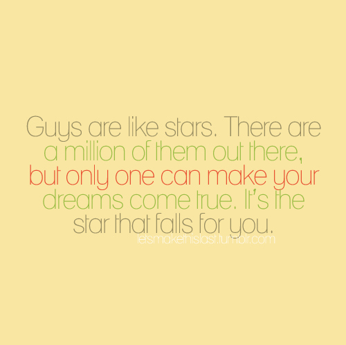 Cute Love Quotes From Girl To Guy : Quote pictures guys are like stars