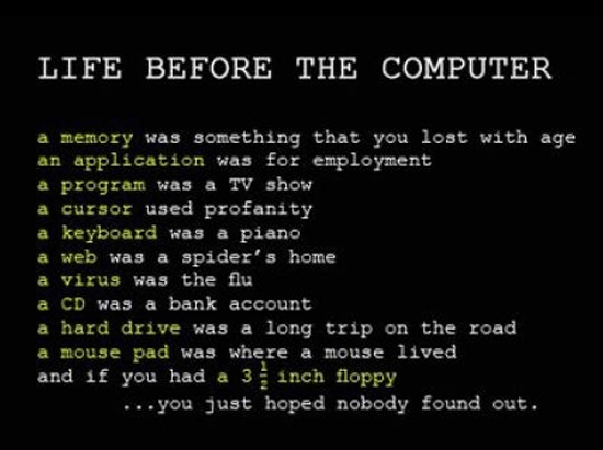 life before computers
