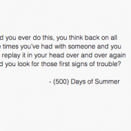 Did you ever do this - 500 days of summer