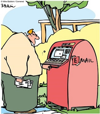 email box cartoon