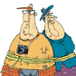 Glenn and Gary McCoy Gag Cartoon Cartoon Example