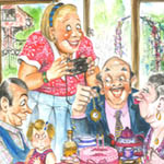 Judy McCavana Traditional Illustration Cartoon Example