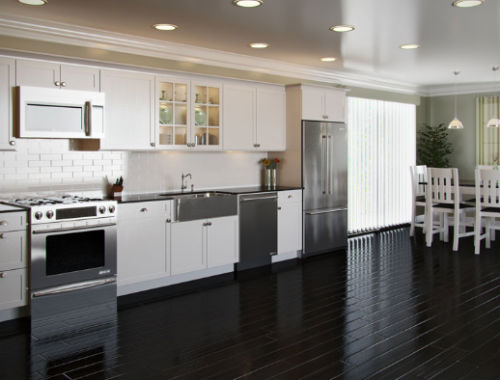 The single wall kitchen for Single wall kitchen designs