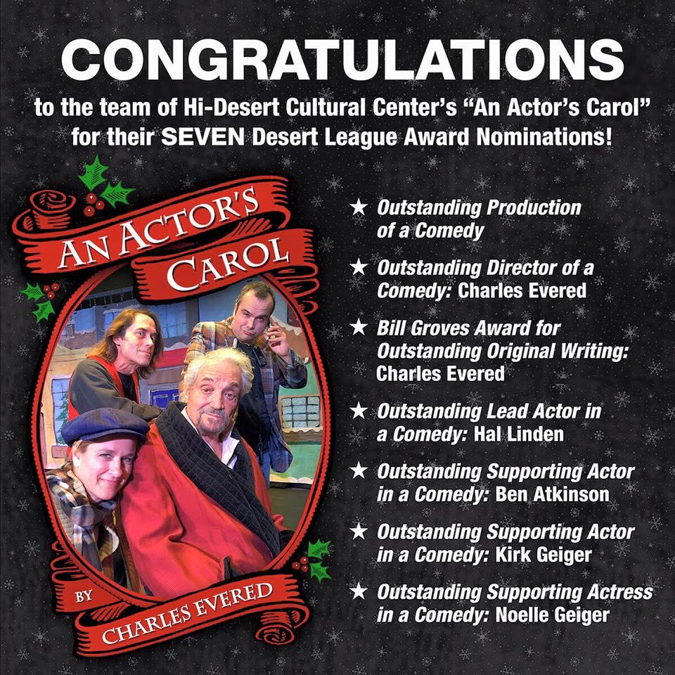 Desert League Awards Nominates An Actor's Carol