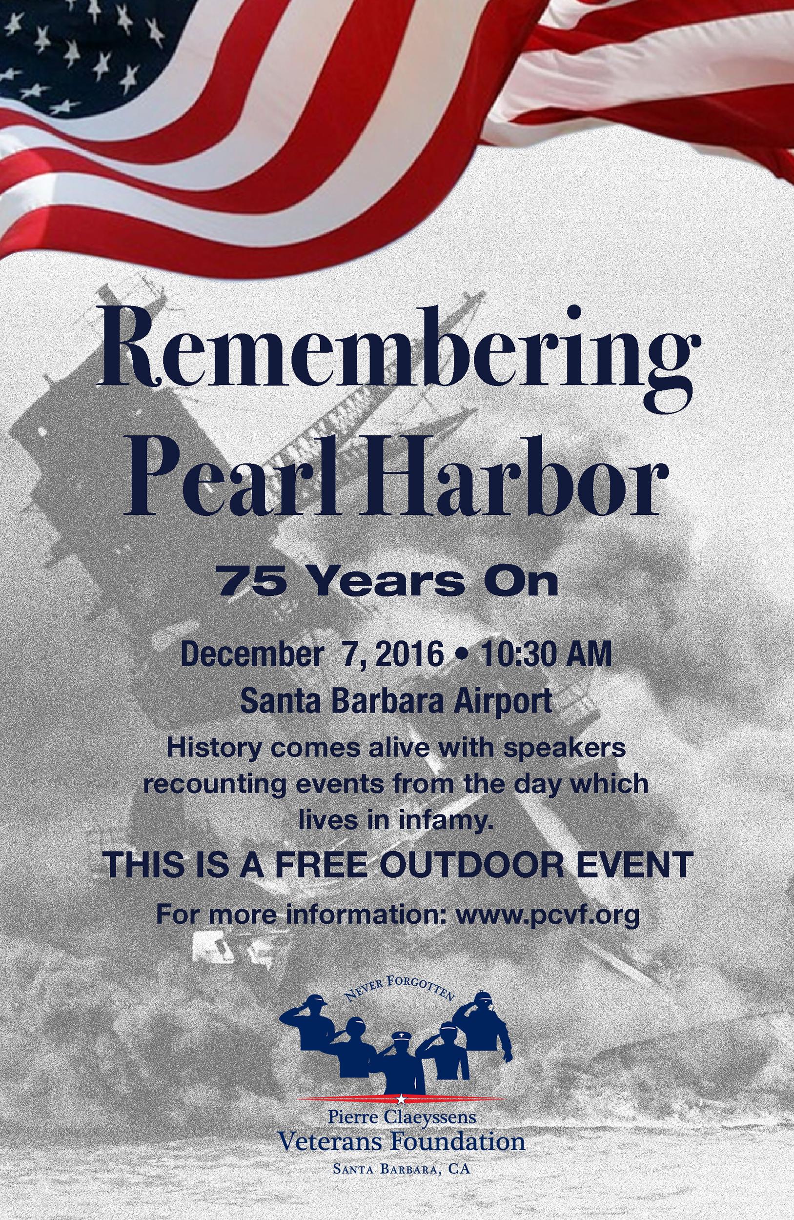 Remembering Pearl Harbor - Pierre Claeyssens Veterans ...