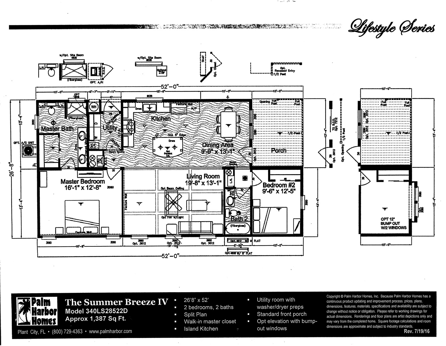 Palm Harbor Summer Breeze Floor Plan IV
