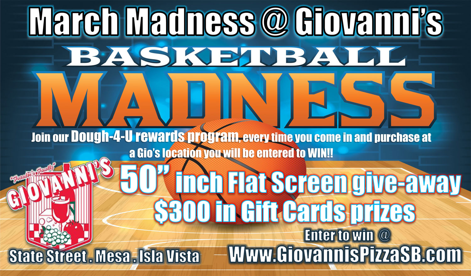 Giovanni's Pizza March Madness