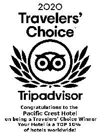 Pacific Crest Hotel Trip Advisor Award of Excellence