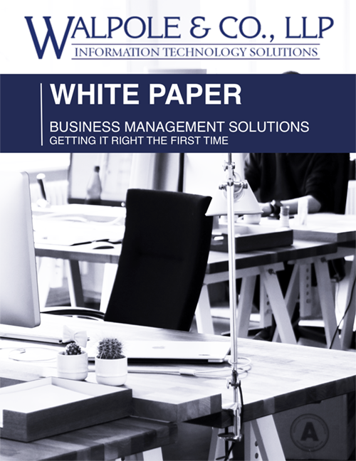 Business Management Solution White Paper Cover