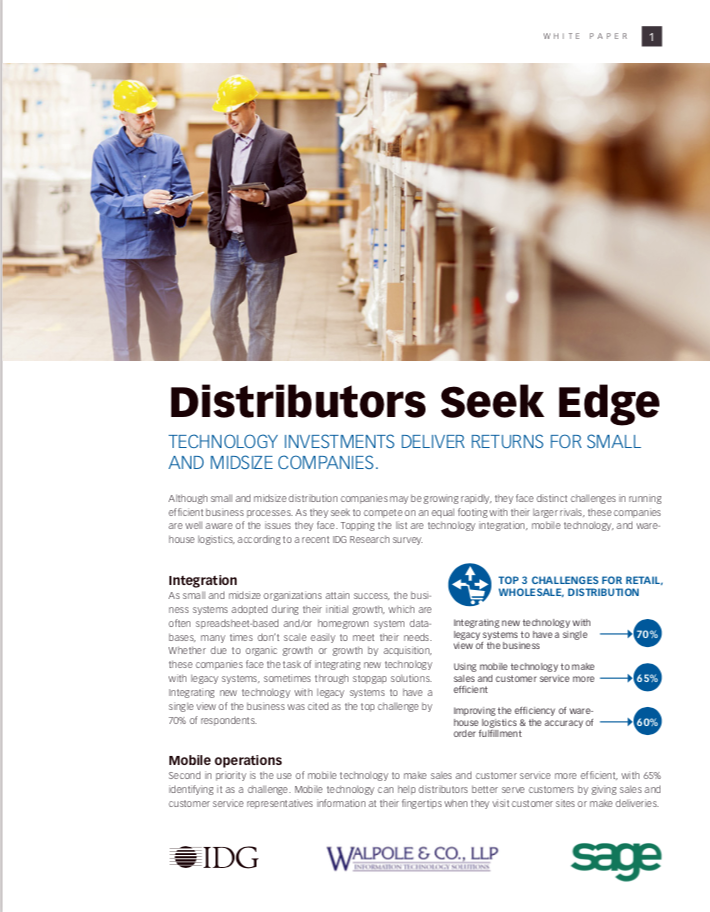 Distributors Seek Edge White Paper Cover