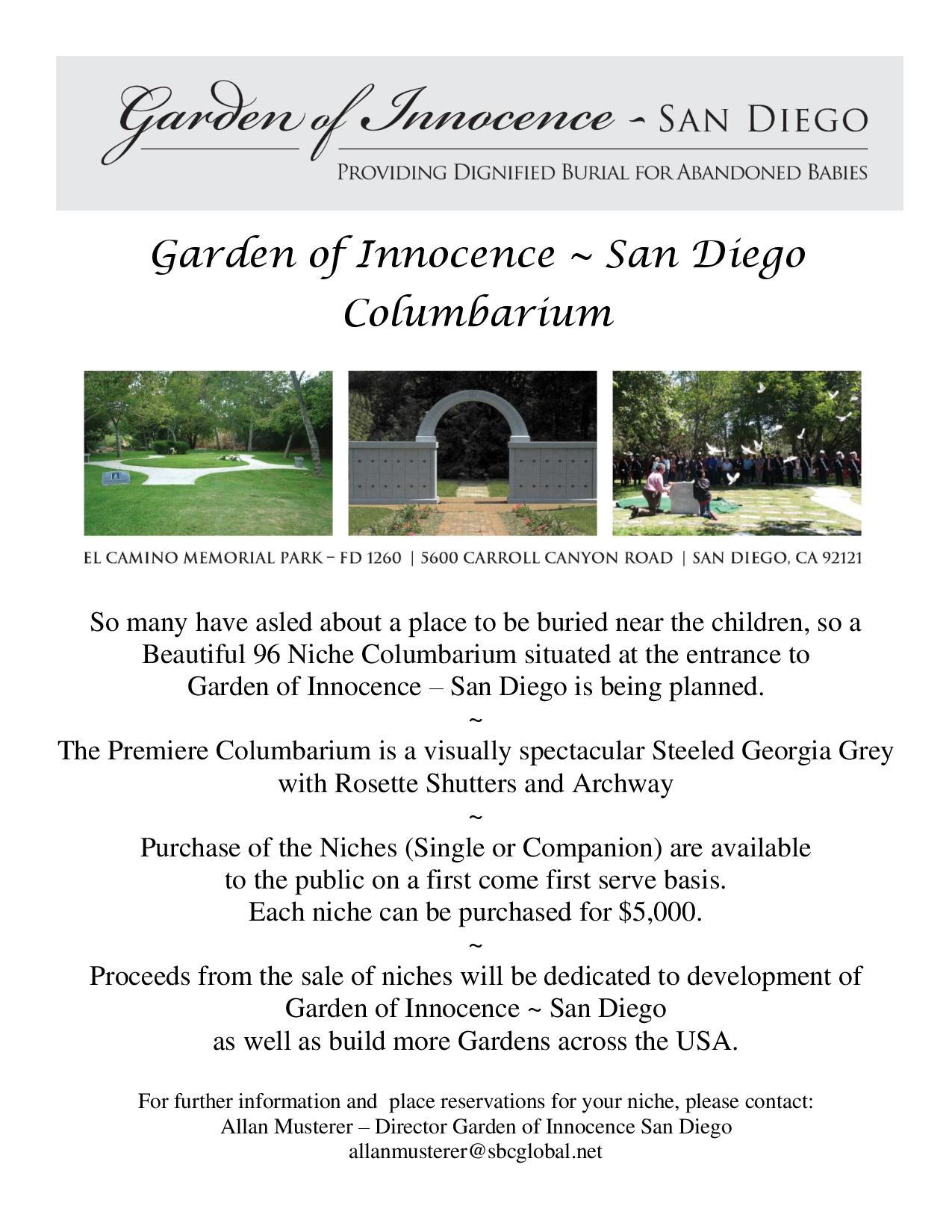 Columbarium Niche Fundraiser