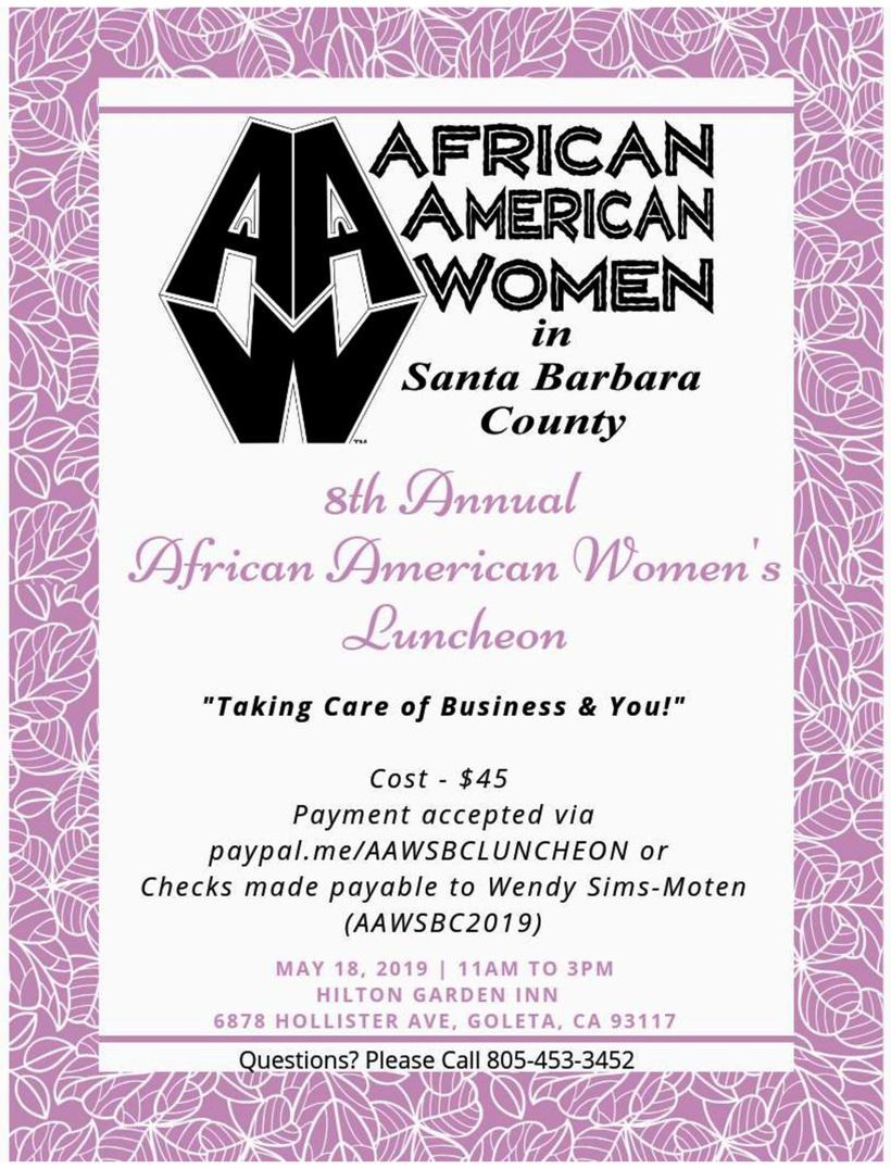 2019 Afrikan American Womens Lunchoen