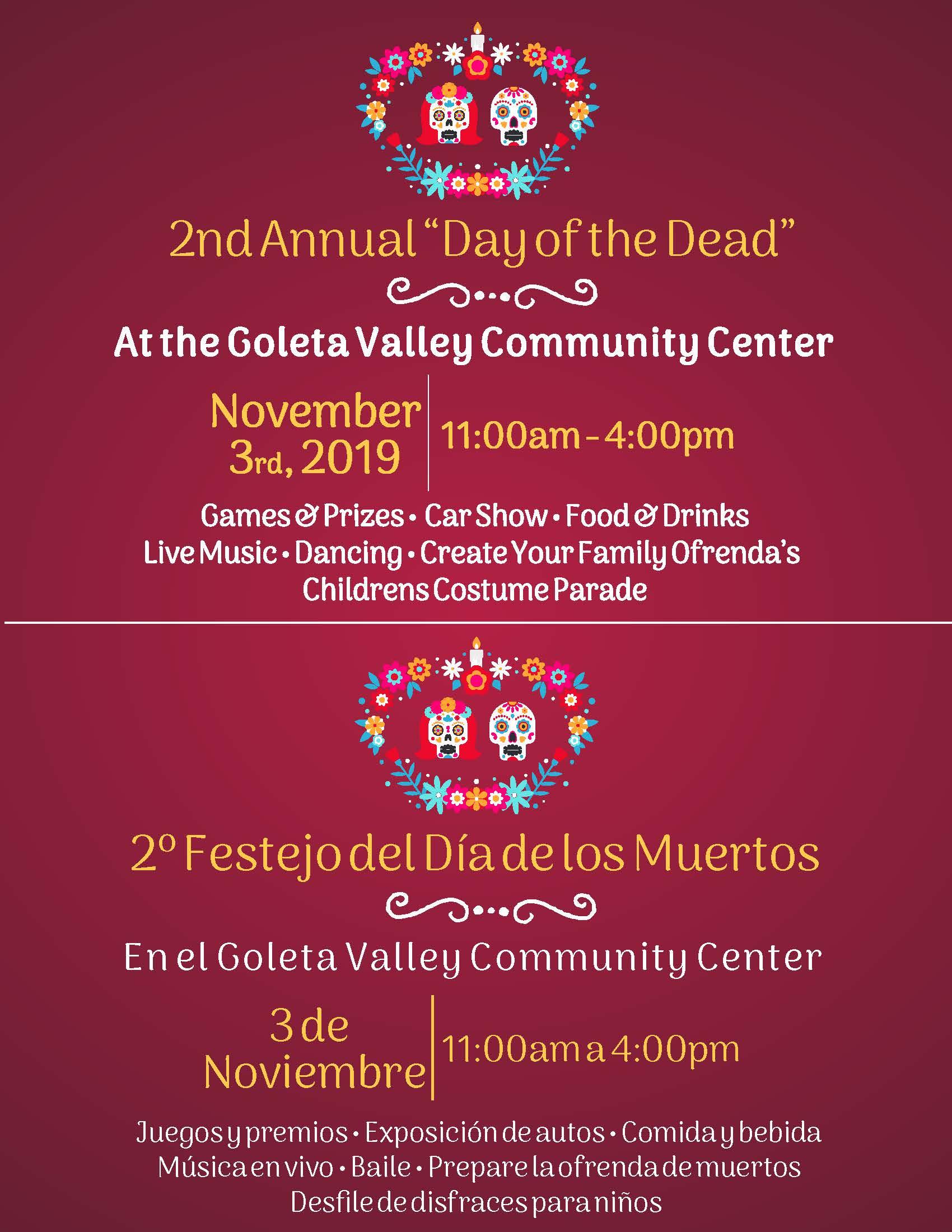 Dia De Los Muertes Event 2019
