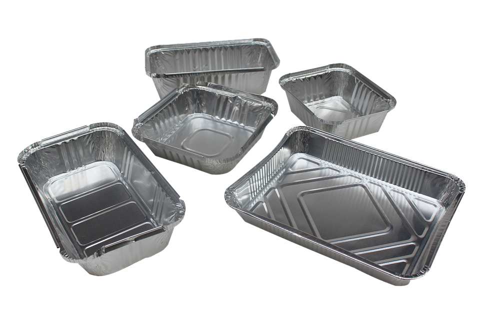 Clean Aluminum Trays
