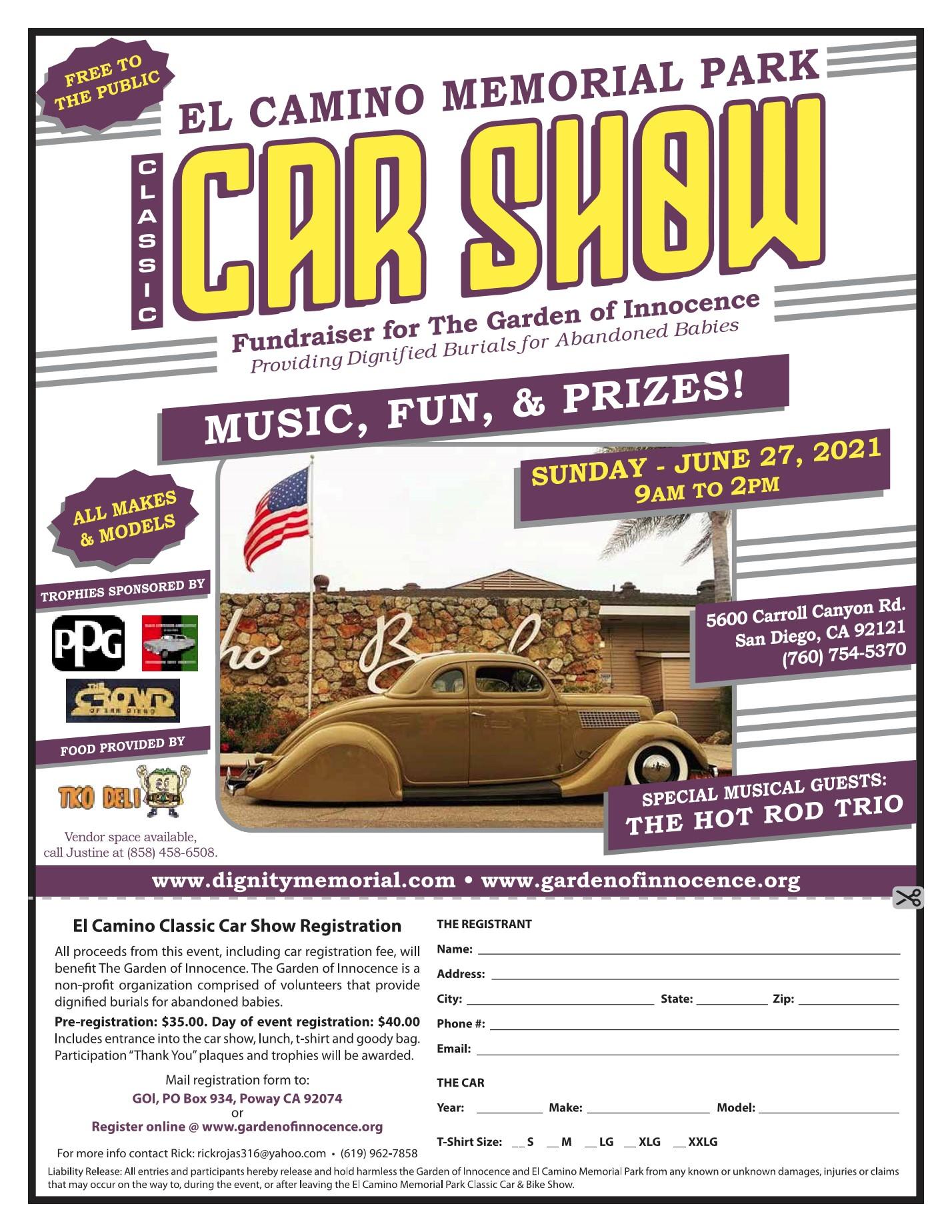 2021 Car Show Flyer