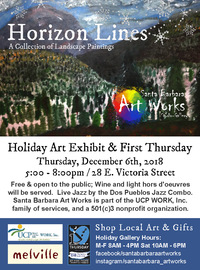poster art of December 6th 2018 1st Thursday Arts Exhibition