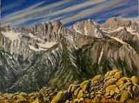 """Mt. Whitney Memories"" 18 X 24, oil"