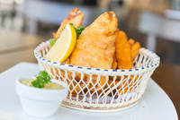 Boston-Style Beer-Battered Fish and Chips