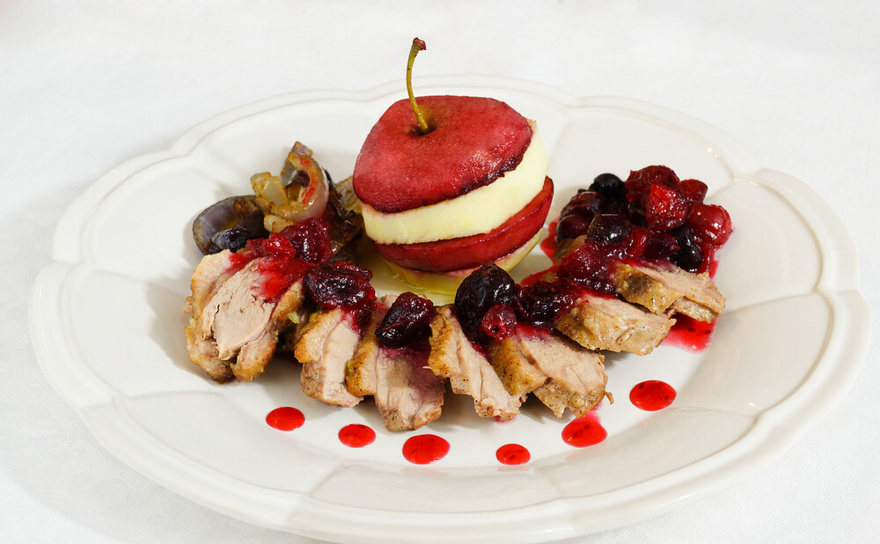 Duck Breasts with Apple Brandy Sauce