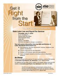 State Labor Law and Payroll Tax Seminar