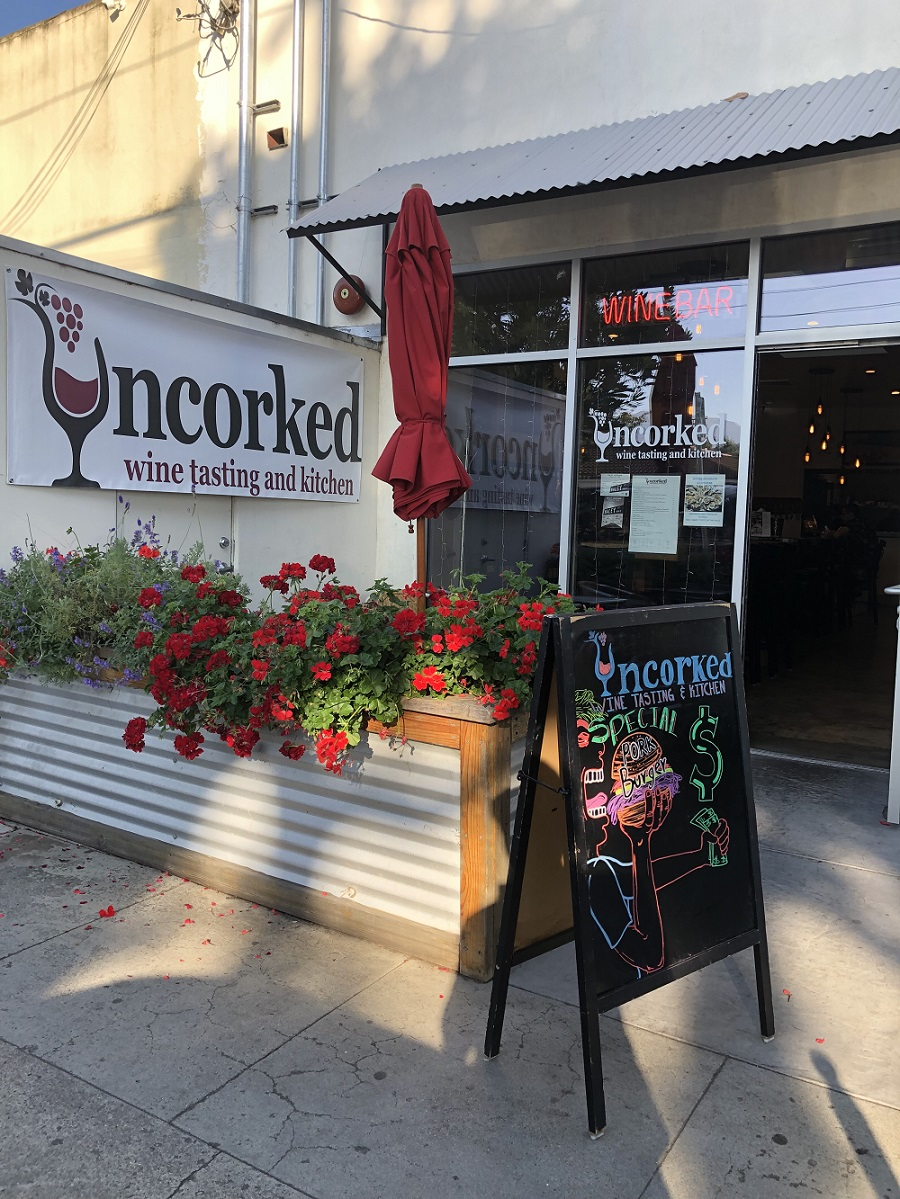 Uncorked Wine Tasting and Kitchen front