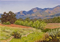 Blue Mountain Morning, 10 x 14, pastel
