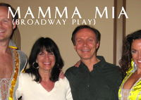 """Mamma Mia"" Broadway stage production actors"