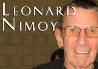 "Leonard Nimoy, Actor best known as ""Spock"" from the Star Trek TV and Movie series"