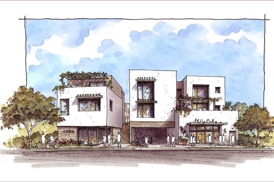 Santa Barbara's Haley Corridor is becoming a thing. (DMHA Architects rendering)