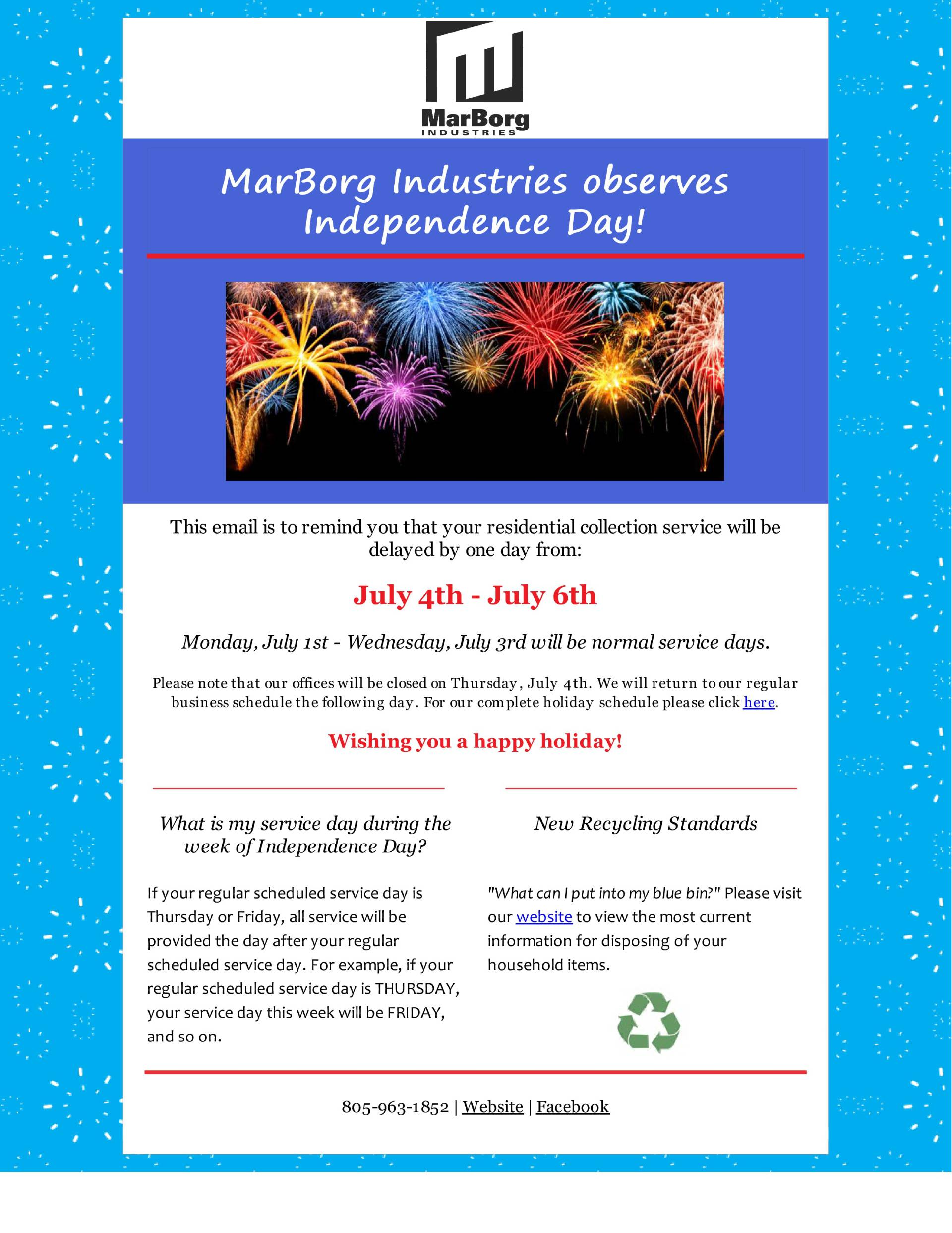 Marborg Industries Observes Independence Day!
