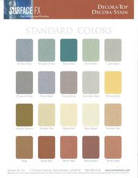Surface FX Decora Color Charts