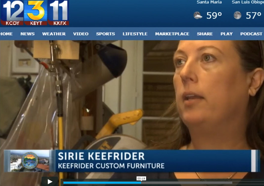 KEYT 3 with John Palminteri Interviews Sirie Keefrider