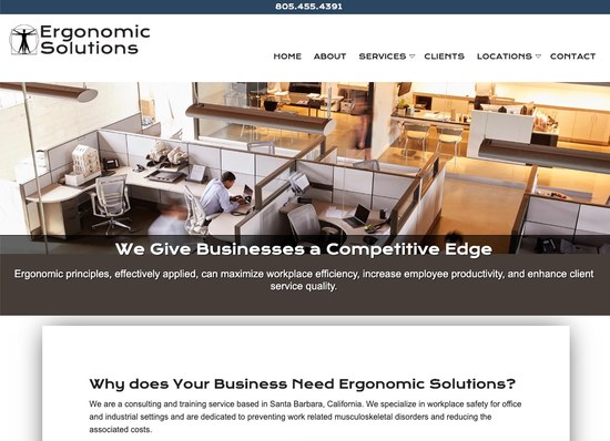 Santa Barbara Ergonomic Solutions Consulting Homepage