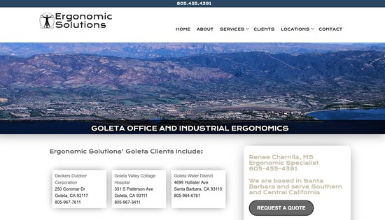 Santa Barbara Ergonomic Solutions Consulting Goleta