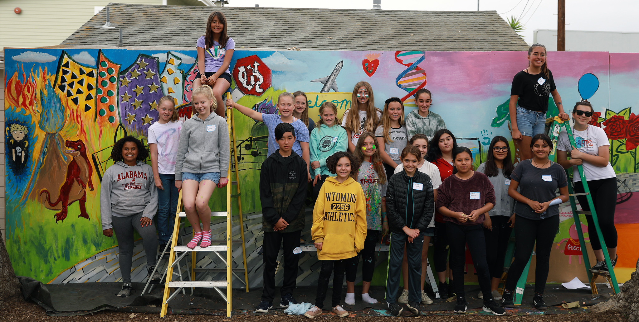 Teen Mural Project 2019 Group